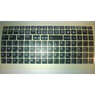 KEY - Billentyüzet matrica HU fekete alap/fehér betű(nagy) Kolink