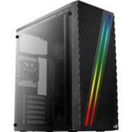 HZ - AEROCOOL STREAK RGB ATX Fekete táp nélkül