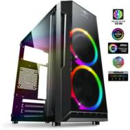 HZ - Spirit of Gamer Deathmatch 3 RGB mATX fekete ablakos USB3