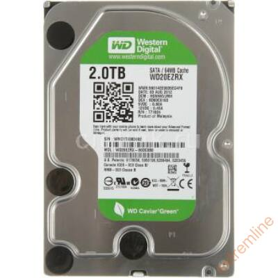 HDD - WD 2TB 7200RPM SATA3 WD20EZRX 64MB