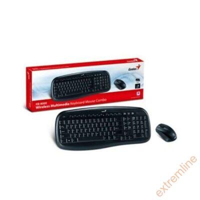 KEYB - GENIUS KB-8000X Wireless bill+egér
