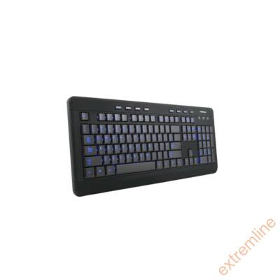 KEYB - ModeCom MC-9006 HU LED fekete