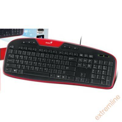 KEYB - GENIUS KB-M205 HU USB fekete-piros