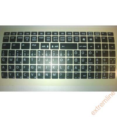 KEY - Billentyüzet matrica HU fekete/fehér (nagy)