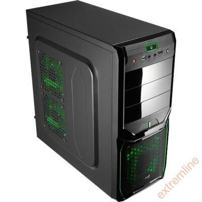 HZ - AEROCOOL V3X Advance Evil Green Edition Midi-Tower táp nélkül
