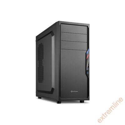 HZ - Sharkoon VS4-V Fekete USB3 táp nélkül (alsó tápos)