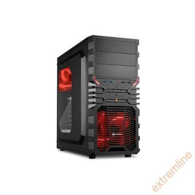 HZ - Sharkoon VG4-W Red USB3 táp nélkül (alsó tápos)