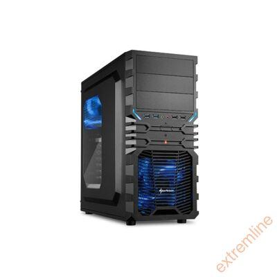 HZ - Sharkoon VG4-W Kék USB3 táp nélkül (alsó tápos)