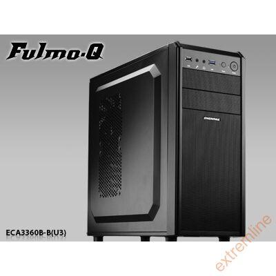 HZ - Enermax Fulmo Q microATX/ATX Case, 1xUSB3.0, 1xUSB2.0, 1x 12cm fan, Black