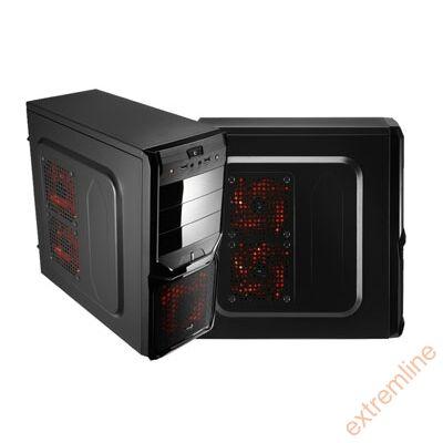 HZ - AEROCOOL V3X Advanced Devil Red Ed. ATX táp nélkül
