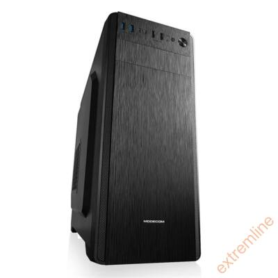 HZ - ModeCom Ariel fekete mATX USB3.0 táp nélkül alsó tápos