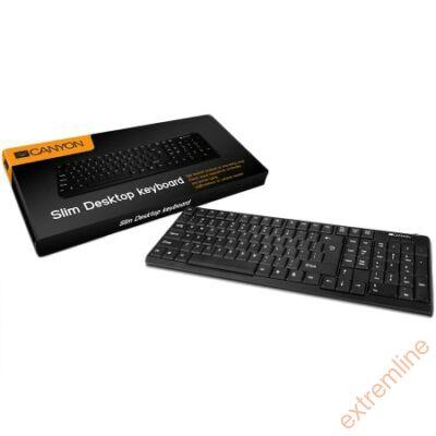 KEYB - Canyon CNE-CKEY2-US  fekete USB cseppálló ENG