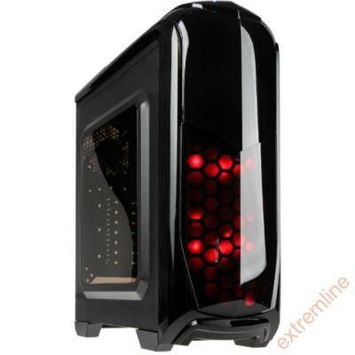HZ - Kolink Aviator fekete ATX ablakos ház USB3 táp nélkül