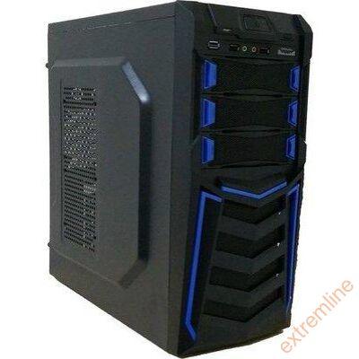 HZ - M-TECH Ház CS11A-BK BLUE USB3 led táp nélkül