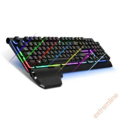 KEYB -  Spirit of Gamer XPERT K100 Black USB 7 színű világítós HU