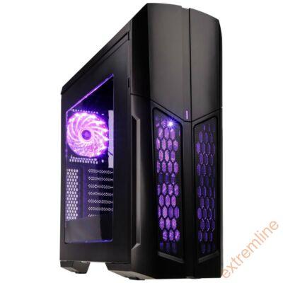 HZ - Kolink Vault RGB fekete ATX ablakos ház USB3  táp nélkül