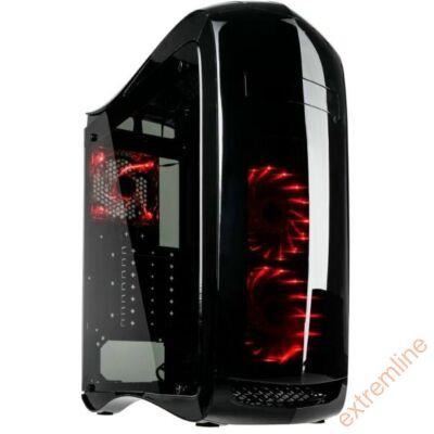 HZ - Kolink Punisher RGB fekete ATX ablakos ház USB3 táp nélkül