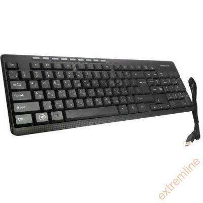KEYB - Silverline MM-KB818 USB fekete billentyűzet