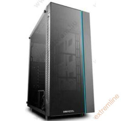 HZ - DeepCool  MATREXX 55 (fekete, fekete belső, ablakos, ATX, mATX, 1xUSB3.0)