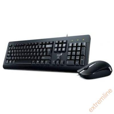 KEYB - GENIUS KM-160 fekete bill+egér USB