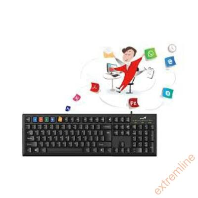 KEYB - GENIUS KB-100 smart fekete USB
