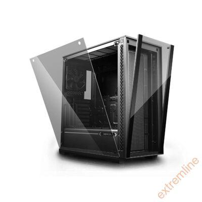 HZ - DeepCool  MATREXX 70 (fekete, ablakos, ATX, 2xUSB3.0) TÁP NÉLKÜL