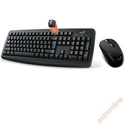 KEYB - GENIUS KM-8100 wireless fekete bill+egér USB