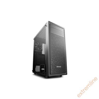 HZ - DeepCool E-SHIELD Fekete USB3.0 Táp nélkül alsó tápos