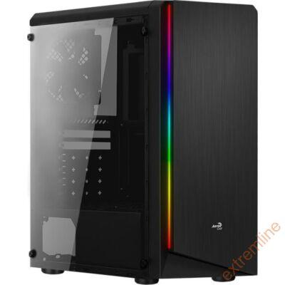 HZ - AEROCOOL Rift RGB USB3 ATX akril üveg  táp nélkül