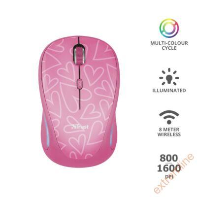 EG - Trust Yvi FX Pink Wless 1600dpi
