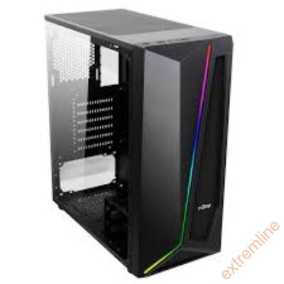 HZ - NJOY MOTION fekete alsó táp, ablakos, ATX, 2x USB2.0, 1x USB3.0
